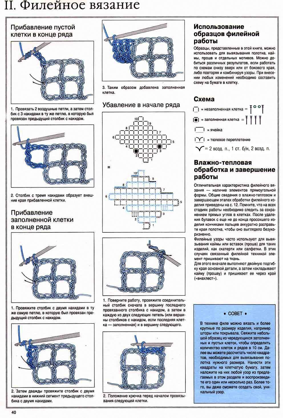 Техника филейного вязания Уроки вязания для 97