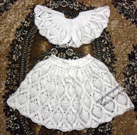 юбка и накидка для девочки