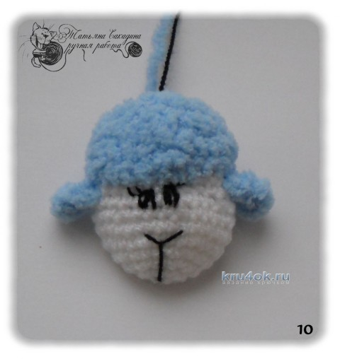 Пушистая овечка - работа Татьяны Сакадиной
