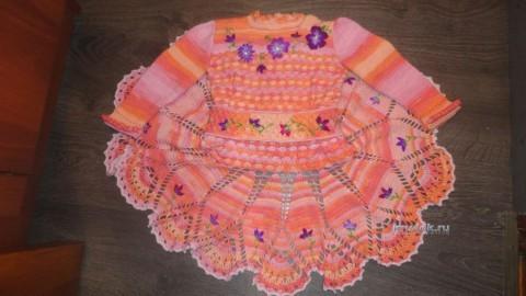 Вязаные крючком платья