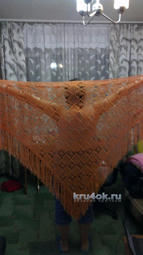 Вязаные крючком шали - работы Людмилы