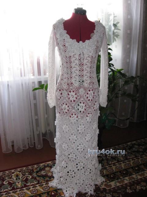 Свадебное платье крючком - работа Валентины