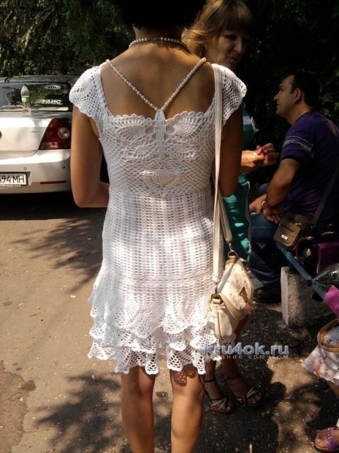 Вязаное крючком платье - работа Ольги