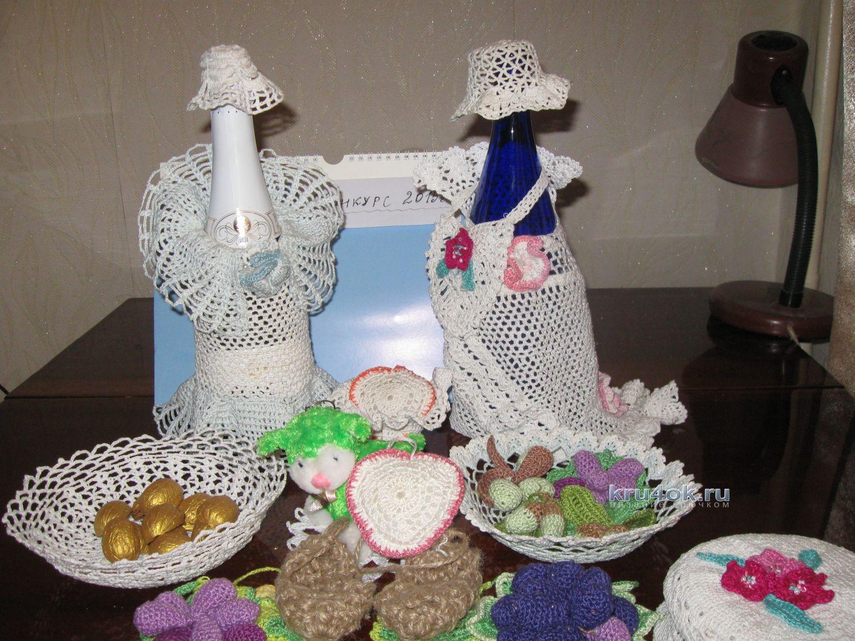 вязание салфеток крючком со схемами валя валентина