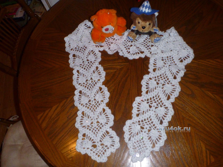 Вязание крючком ажурных шарфиков крючком