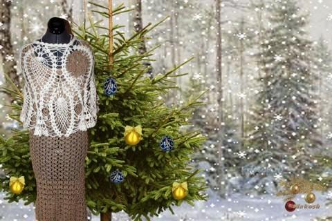 Вязаное крючком платье - работа Ирины