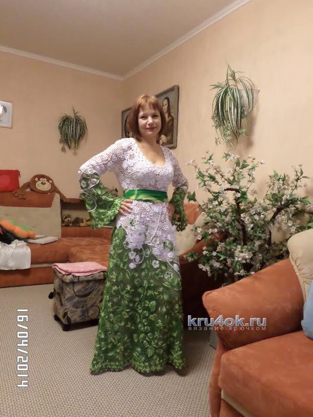 Ирландское вязание крючком платья