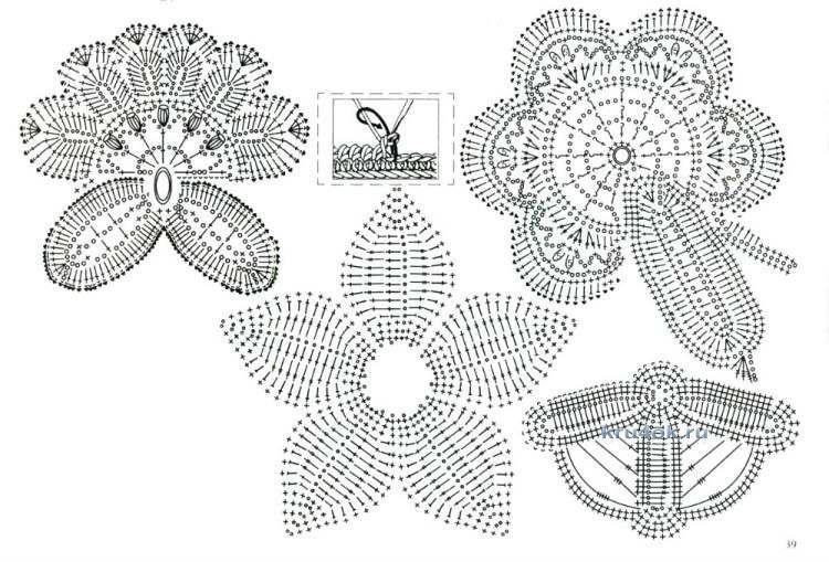 Вязание и схемы ирландского кружева
