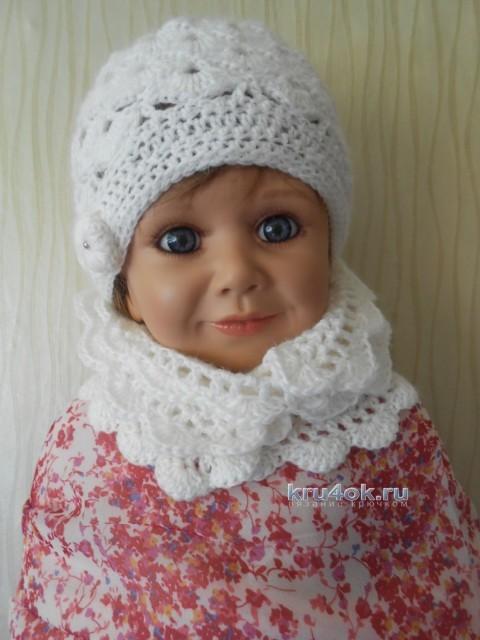 Детский комплект шапочка и шарфик  - работы Татьяны Султановой