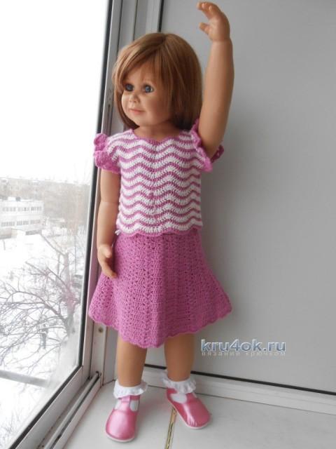 Детские платья крючком - работы Татьяны Султановой
