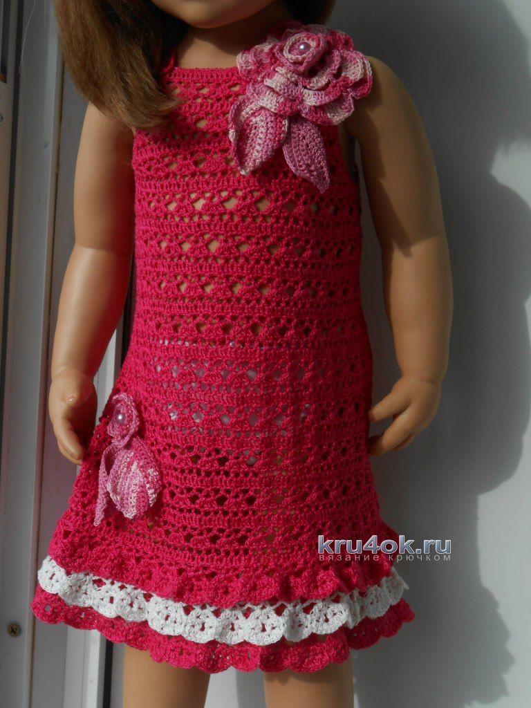 детские платья крючком работы татьяны султановой