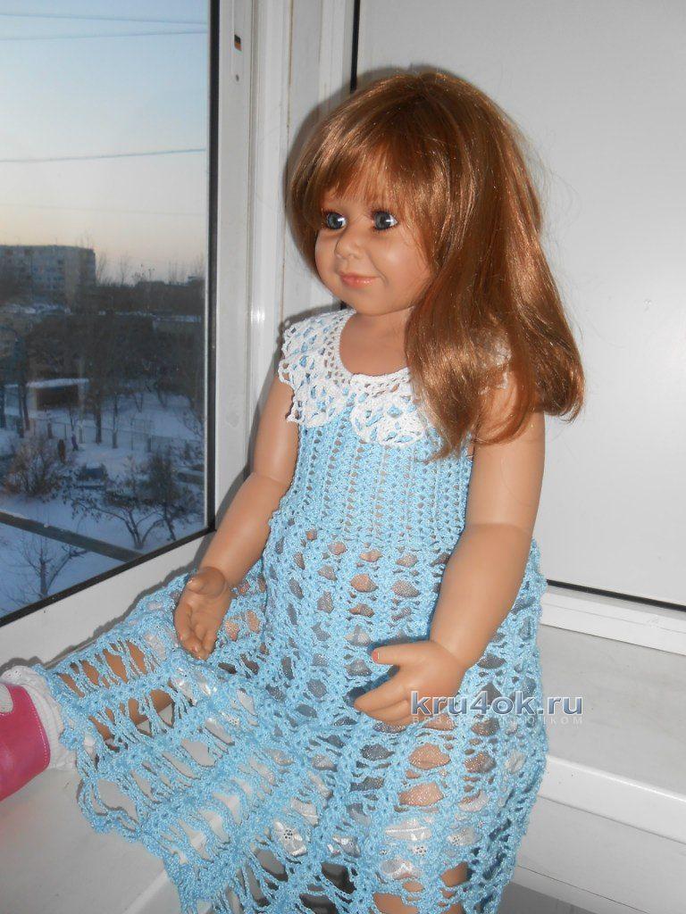 фотография это расклешённое детское платье спицами стадия