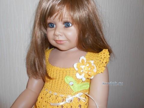 Желтое платье для девочки - работа Татьяны Султановой