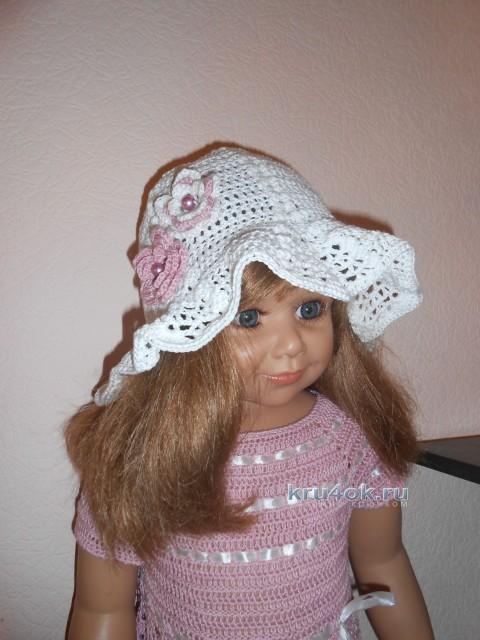 Летняя шляпка Белый колокольчик - работа Татьяны Султановой