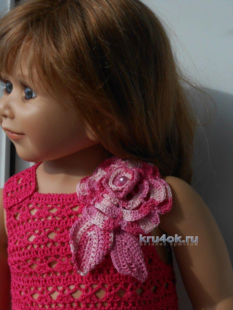 Вязание детского платья крючком 5 лет