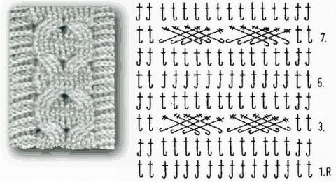 арановый джемпер крючком схема