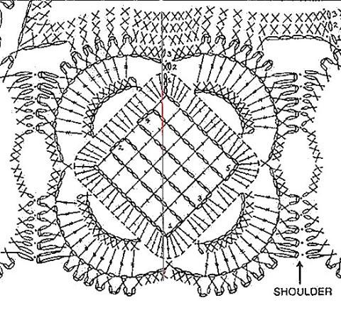 схема вязания мотива для жакета