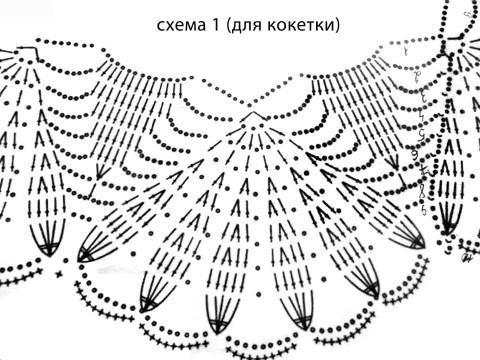 схема вязаняи кофточки
