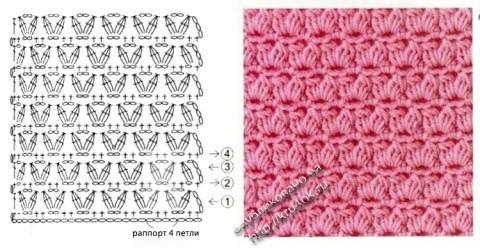 схема вязания узора для сапожек