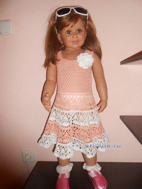 Детское платье крючком - работа Татьяны Султановой