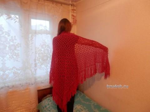 Вязаные шали - работы Ольги