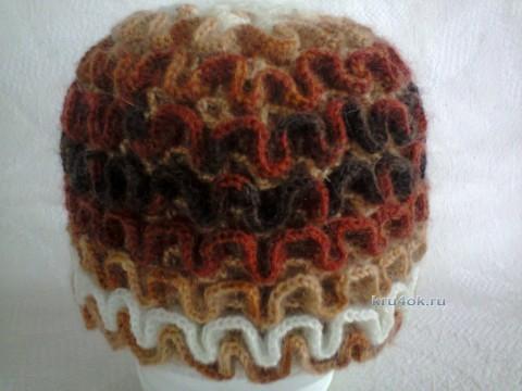 Зимняяя шапка крючком - работа Оксаны