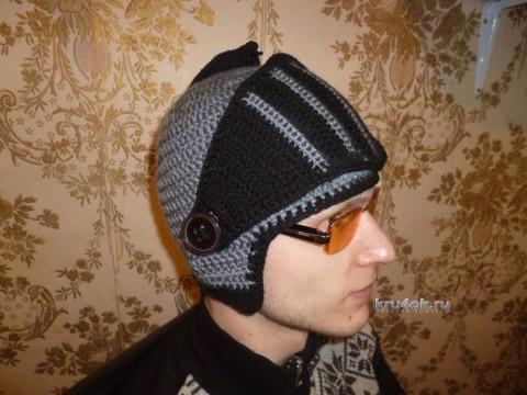 Шапка - шлем крючком