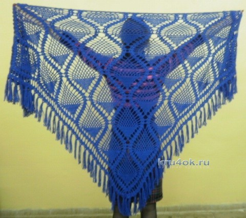 Вязаные шали - работы Анны