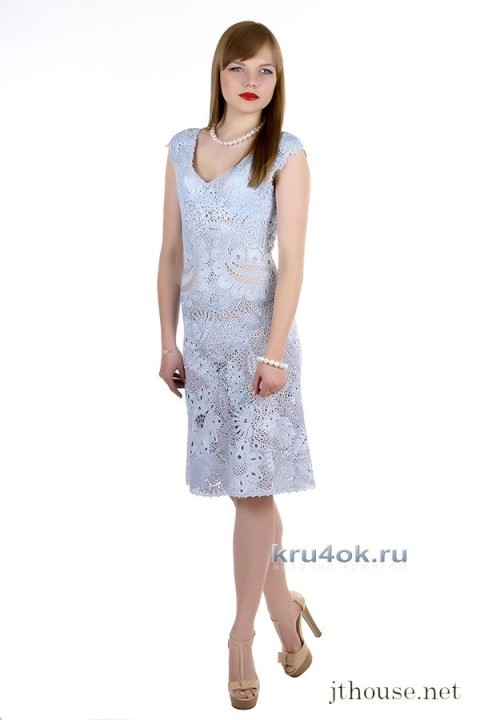 Платье в технике ирландского кружева - работа  Юлии Тушницкой
