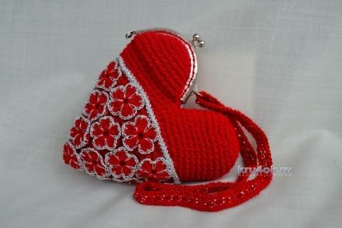 Косметичка - кошелек в виде сердца