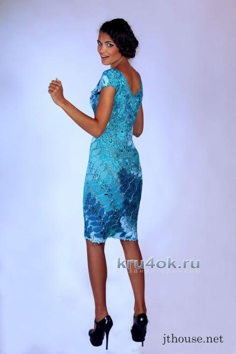 Вязаное крючком платье - работа Юлии Тушницкой