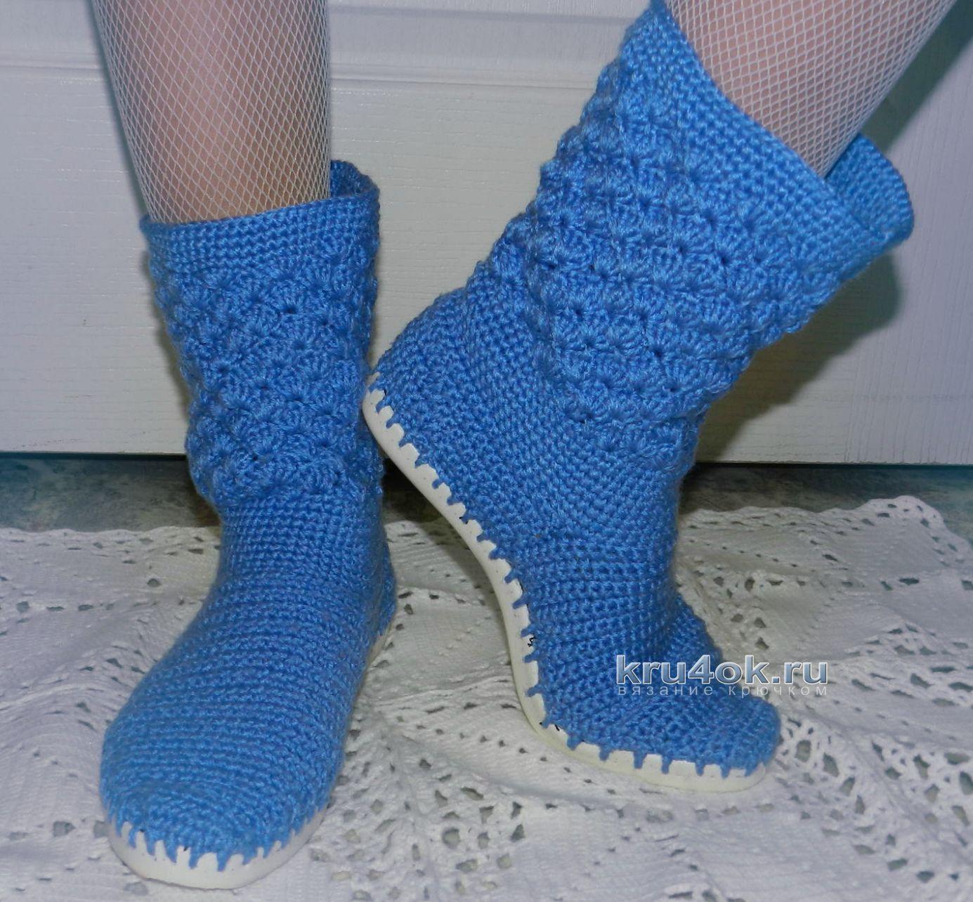 Вязание крючком носочки 804