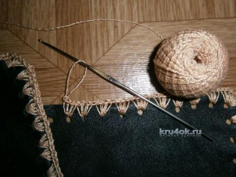 Комплект из кусочков кожи и замши - работа Анжелы