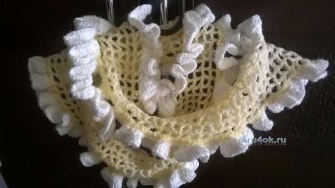 Вязаный крючком шарф - работа Виктории