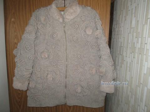 Куртка крючком - работа Галины