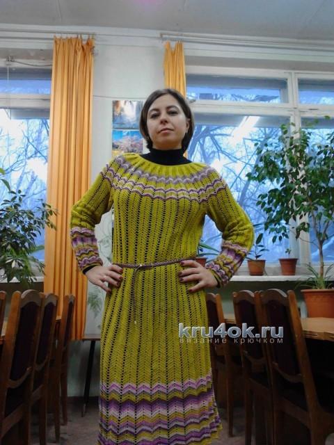 Вязаное крючком платье - работа Надежды Угловой
