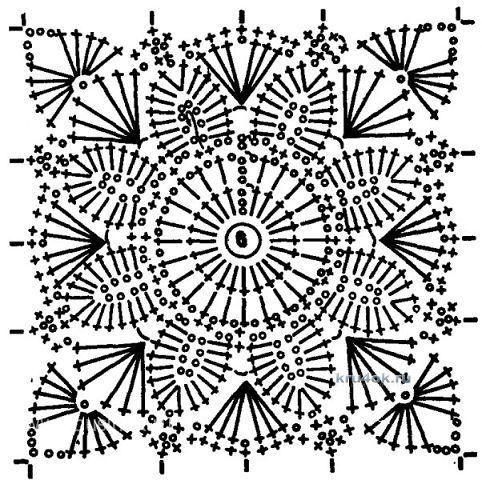 Вязание пледов из бабушкиных квадратов 97