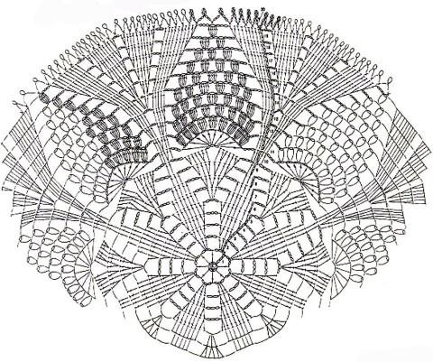 схема вязания салфетки