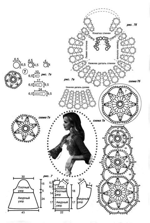 Схема и выкройка болеро