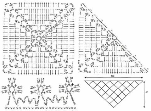 бактус крючком схема