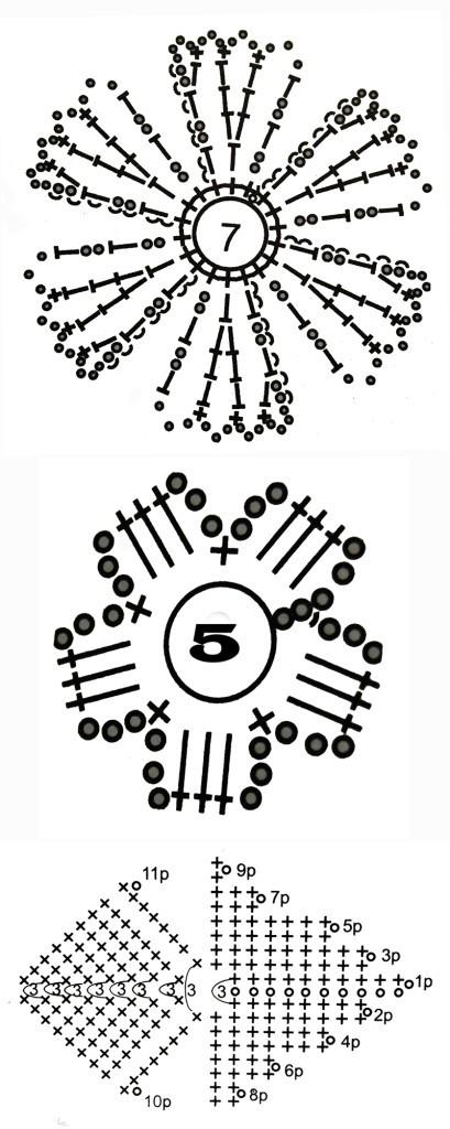 схемы вязания туники