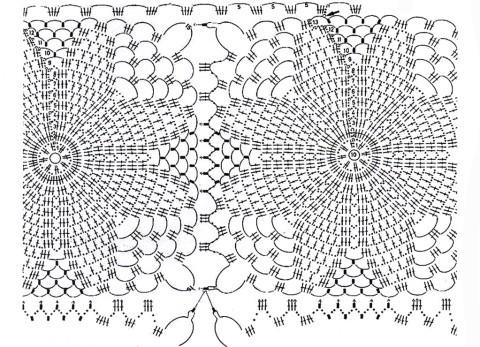 Схема вязания палантина крючком: