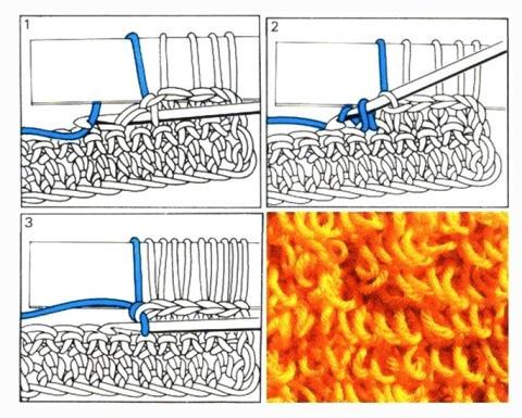 Как вязать вытянутые петли