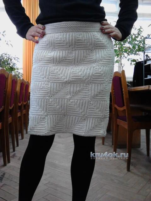 Теплая юбка крючком - работа Надежды Угловой