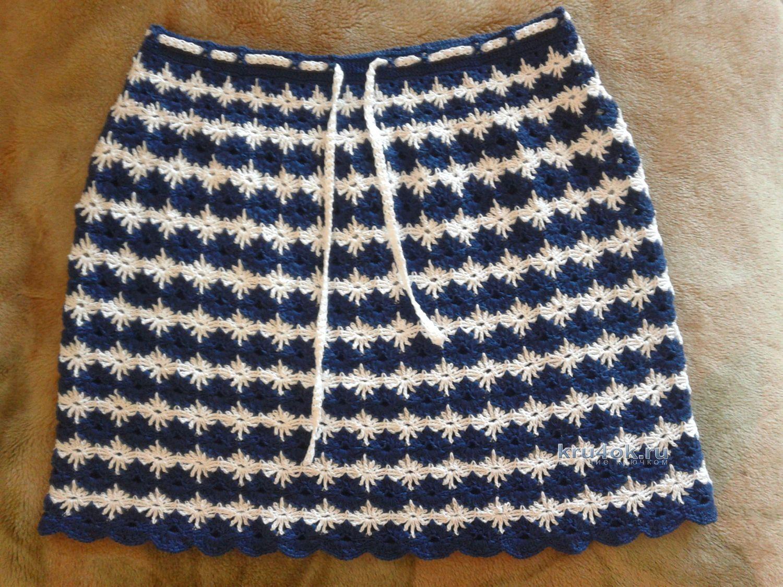 Красивая юбка для девочки крючком