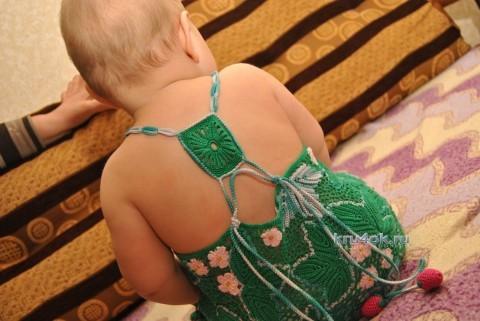 Платье Клубничная  поляна