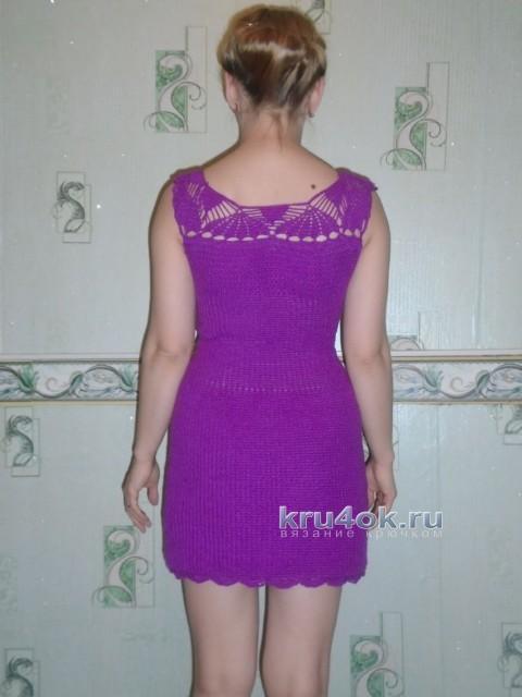 Женское платье крючком - работа Оксаны