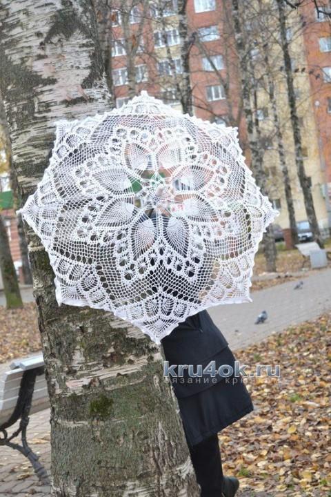 Вязаные крючком зонты - работы Нины