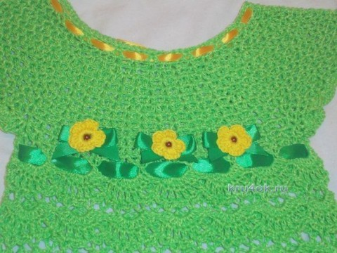 Детское платье крючком - работа Натальи Трусовой