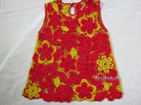 Детское платье в технике ирландского кружева вязание и схемы вязания